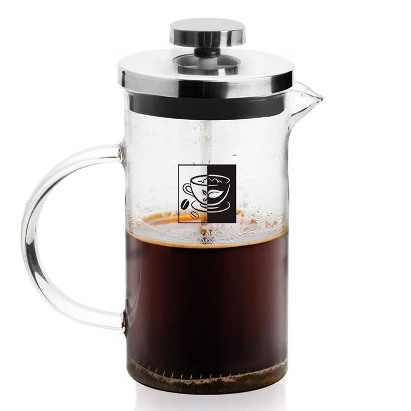 Zaparzacz imbryk dzbanek szklany z tłokiem do kawy herbaty ziół 0,35 l